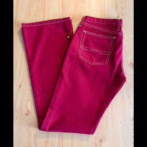 LUCKY BRAND DUNGAREES Red Jeans 👖  Size 6/28